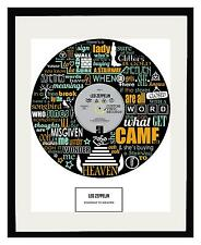 LED ZEPPELIN - MEMORABILIA - Framed ART POSTER PRINT - Ltd Edition