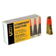 UCO Stormproof Sweetfire Strikable Matches Waterproof Tinder 20 per Box
