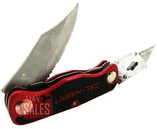 New Dual Blade Quick Change Folding Lock Back Utility Knife Box Cutter