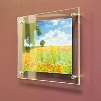 ANY SIZE Acrylic Frame - Modern Standoff Wall Frame