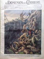 La Domenica del Corriere 9 Luglio 1933 Novara Magenta Roma Ariosto Rino Parenti