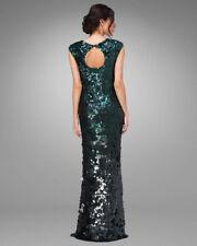 PHASE EIGHT GALINA Green Sequin Bodycon Maxi Xmas Ball Gown Dress Size 14