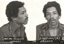 Vintage Mug Shots of Famous People/Celebrity Arrest Pictures/Jimmy Hendrix