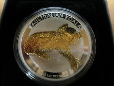 2012 Australian 1 Ounce Koala Gilded Silver Coin From The Perth Mint