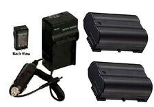 2X EN-EL15 Batteries + Charger for Nikon D800 D800E D7000 D7100 D7200 DSLR 1 V1