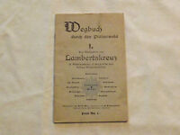 VINTAGE GERMAN  GERMANY 1950S WEGBUCH DURCH DEN PFALZERWALD TOURIST MAP BOOKLET