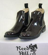 Reed Hill Brown /  Burgundy Patent Elastic Side Jod Boot 7 1/2 C