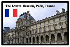 THE LOUVRE MUSEUM, PARIS, FRANCE - SOUVENIR JUMBO FRIDGE MAGNET - BRAND NEW