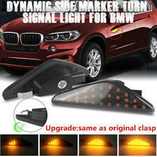 Amber LED Side Marker Turn Signal Indicator Lights For BMW X3 F25 X5 E70 X6 E71