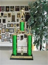 """HORSESHOE PITCHING LARGE TROPHY 17 3/4""""  TALL FREE LETTERING & COLOR TP2001-7/3"""