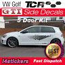 VW Golf Tcr Panal Lateral Pegatinas Fibra de Carbono Gráficos 5 Puerta Mk7 MK7.5