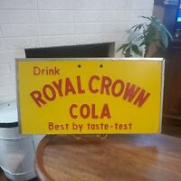 RC Cola Sign Vintage Metal Sign 11 1/4 X 22 Soda Royal Crown Cooler Door SIGN!
