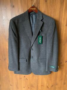 """RRP £325 - RALPH LAUREN SUIT JACKET Silk Wool Grey Cashmere Blazer 38"""" Chest"""