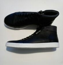 NEW Calvin Klein Balthazar 2 Mens Sz 10.5 Black Lace Up/Zip Up High Top Shoes