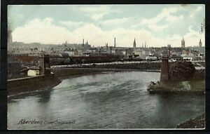 Postcard : Aberdeen and river Don from Craiginches