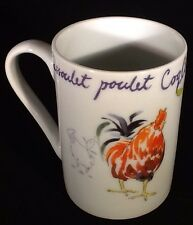 Beautiful Set of 4 Tabletops Gallery Coq au Vin Coffee Mugs - FREE SHIPPING!