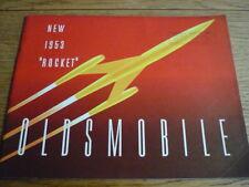 Oldsmobile rocket, 1953 voiture brochure