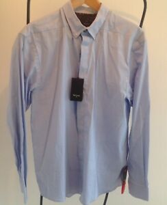 Paul Smith Men's Smart Casual Sky Blue Slim fit Shirt. Size M.