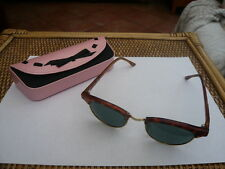 VINTAGE POLAROID DESIGNER LADIES SUNGLASSES RETRO FAUX TORTOISE SHELL FRAMES