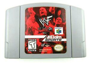 WWF Attitude - Nintendo N64 Game Authentic TESTED
