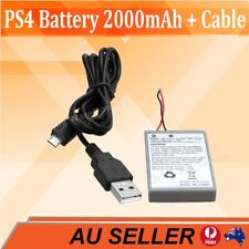 PS4 Battery + Cable For Sony Playstation 4 Controller 2000mAh Rechargeable Liion