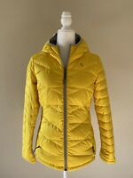 Lole Womens Yellow Duck Down Filled Zip Hooded Puffer Jacket Size Extra Small