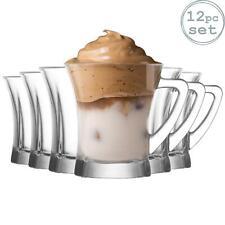 12x 220ml Clear Glass Coffee Latte Tea Mugs Glasses Tea Cups, LAV Truva+