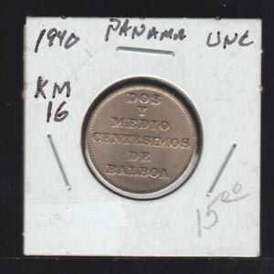 Panama, 2 1/2 Centesimos, 1940 Uncirculated