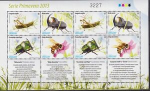 Uruguay 2013 Fauna, Insects, Beetles, Bees MNH**