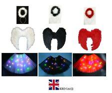LIGHT UP ANGEL TUTU COSTUME Ladies Girls Christmas Fancy Dress Nativity Party UK
