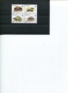 1991 WWF MONACO Hermann's Tortoise 4V set in Block MNH POST FREE