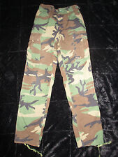 US Military ACU ARMY WOODLAND Camo Fatigue Combat Pants Cargo Hunting XS Long