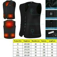 USB Electric Heated Vest Jacket Coat Winter Body Warmer Vest Pad Men Women PI