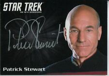 Star Trek TNG Portfolio Prints Series 2 Silver Autograph Card Patrick Stewart