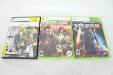 Microsoft Xbox 360 Game Lot Mass Effect 2 3 Lot Video Game War Bioware RPG