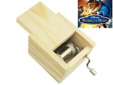 Wooden Hand Crank Music Box : BEAUTY AND THE BEAST