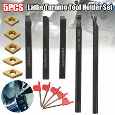 5pcs 8mm Shank Indexable Lathe Turning Tool Holder Ccmt060204 Dcmt070204 Insert