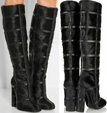 NEW Tom Ford Runway Patchwork Calf Hair Leather Knee High Boots 40 10 $2,890 NIB