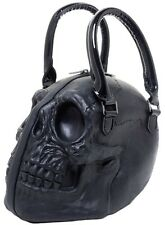 Kreepsville 666 Black Latex Skull Bowling Handbag Gothic Purse w/ Coffin Pulls