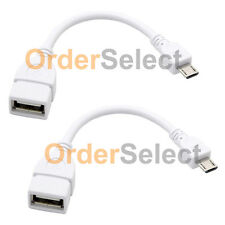 2 NEW USB Micro B to A Adapter OTG Cable Cord for Android Phone Google Nexus 7
