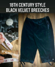 18th Century Style Black Velvet Breeches, Goth, Pirate