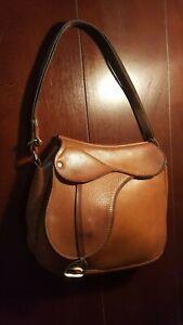 Vintage 1960s Saddle Shoulder Handbag