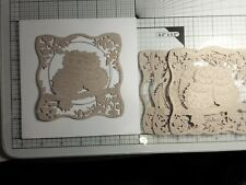 """Beautiful Owls die cut Toppers 4.37"""" x 4.37"""" cut from craft card x4"""