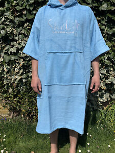 Bamboo Poncho Towel ShoreLife Sky BlueUnisex