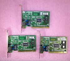 3 (THREE) x KINGSON KNE30T 10 MBPS RJ45 PCI ETHERNET NETWORK CARDS / ADAPTERS