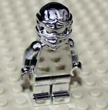 Lego Ninjago Silver Chrome Cole Minifigure NEW!!!!