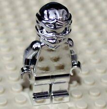 Lego Ninjago Silver Chrome Cole Minifigure NEW!!!!