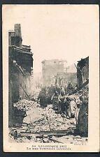 FRENCH POSTCARD Great Thessaloniki Fire of 1917 Rue Venixelos  OAS - MORTLAKE