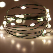 11ft 60L LED String Fairy Lights Battery Powered Warm White Christmas Wedding