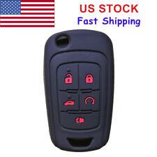 5 Buttons Flip Key Fob Cover Case Jacket For Chevrolet Equinox Camaro Cruze Volt